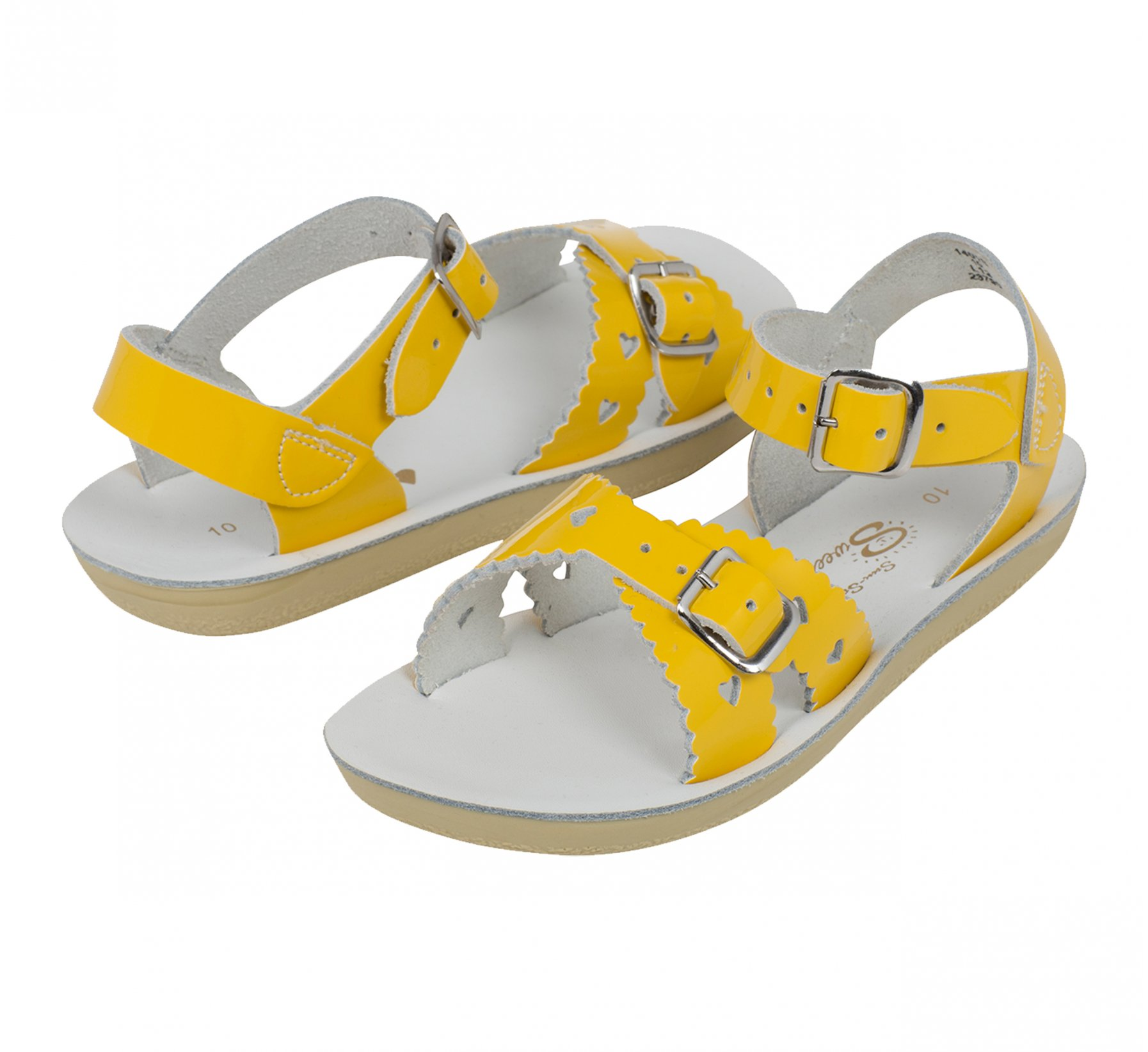 Sweetheart Shiny Yellow - Salt Water Sandals