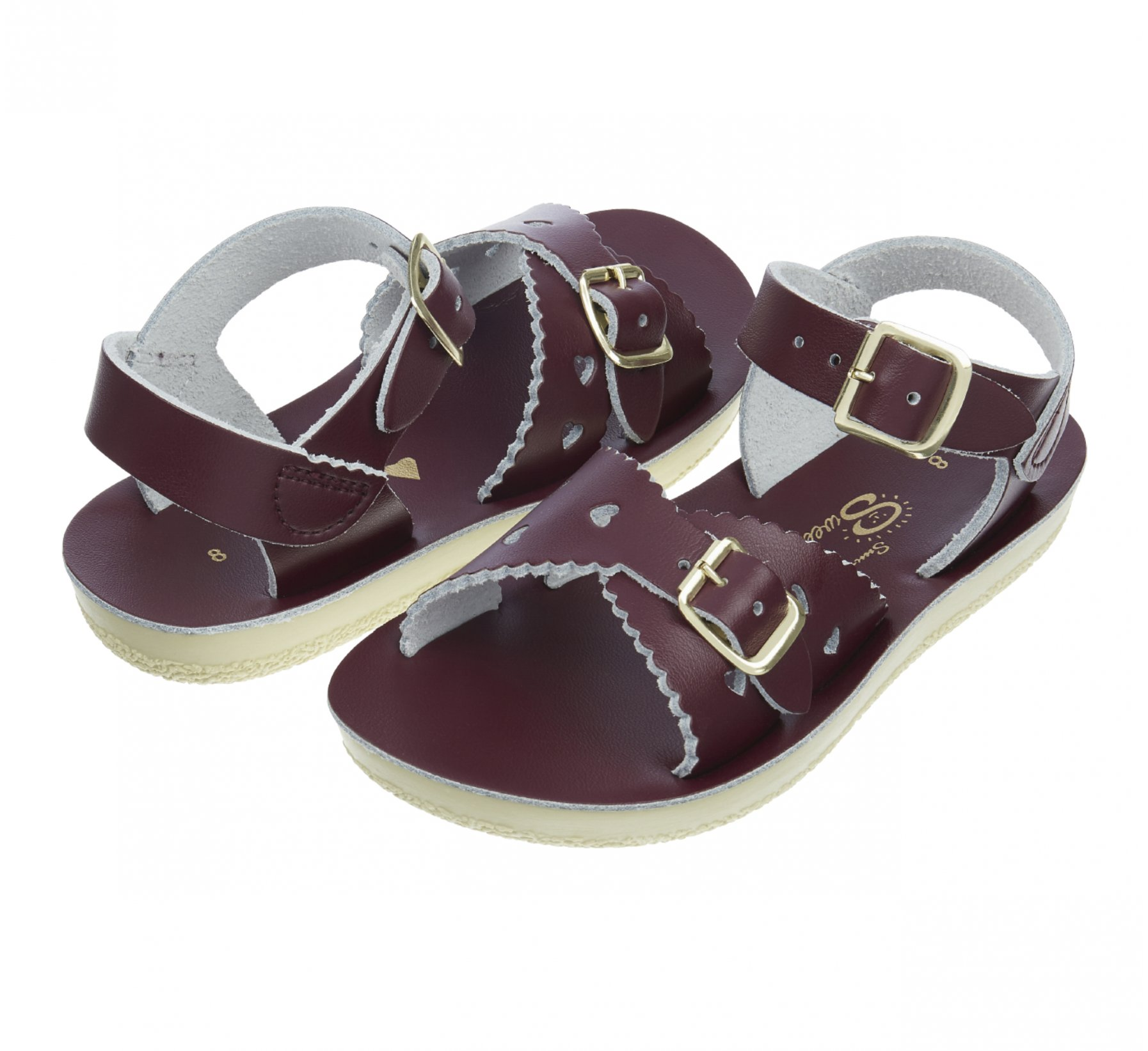 Sweetheart Claret  - Salt Water Sandals