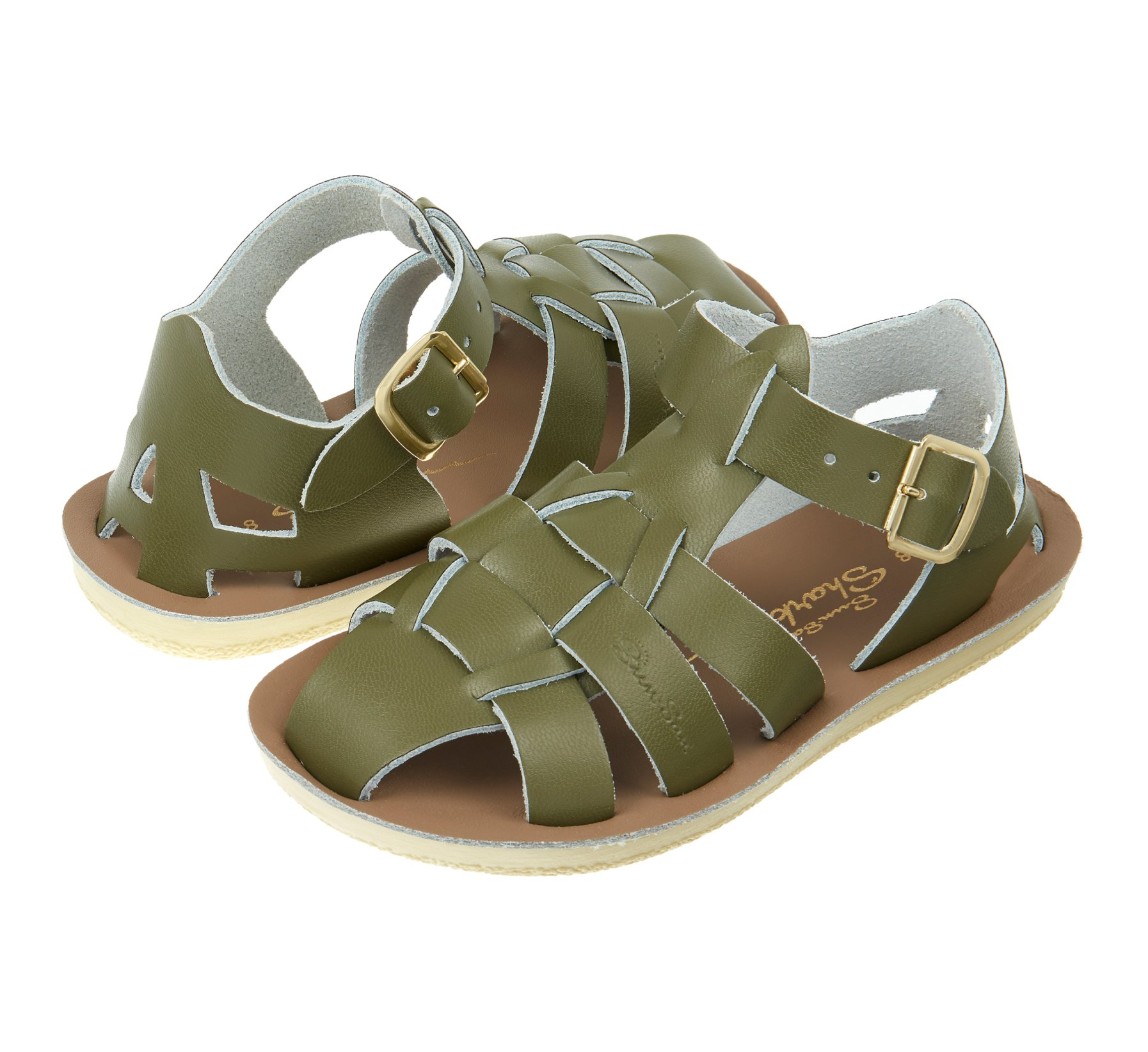Shark Olive  - Salt Water Sandals