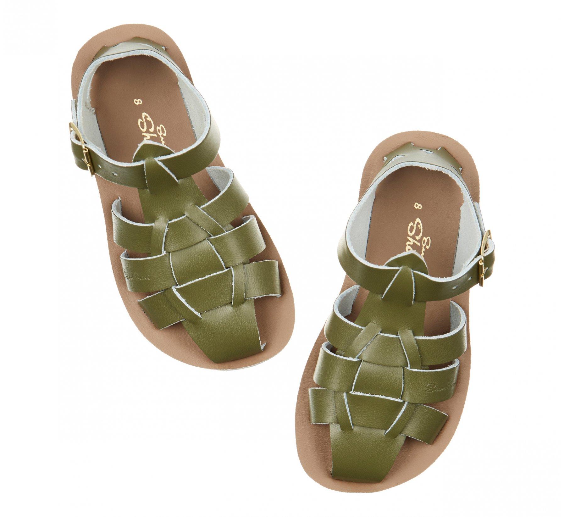 Shark Olive  - Salt Water Sandals