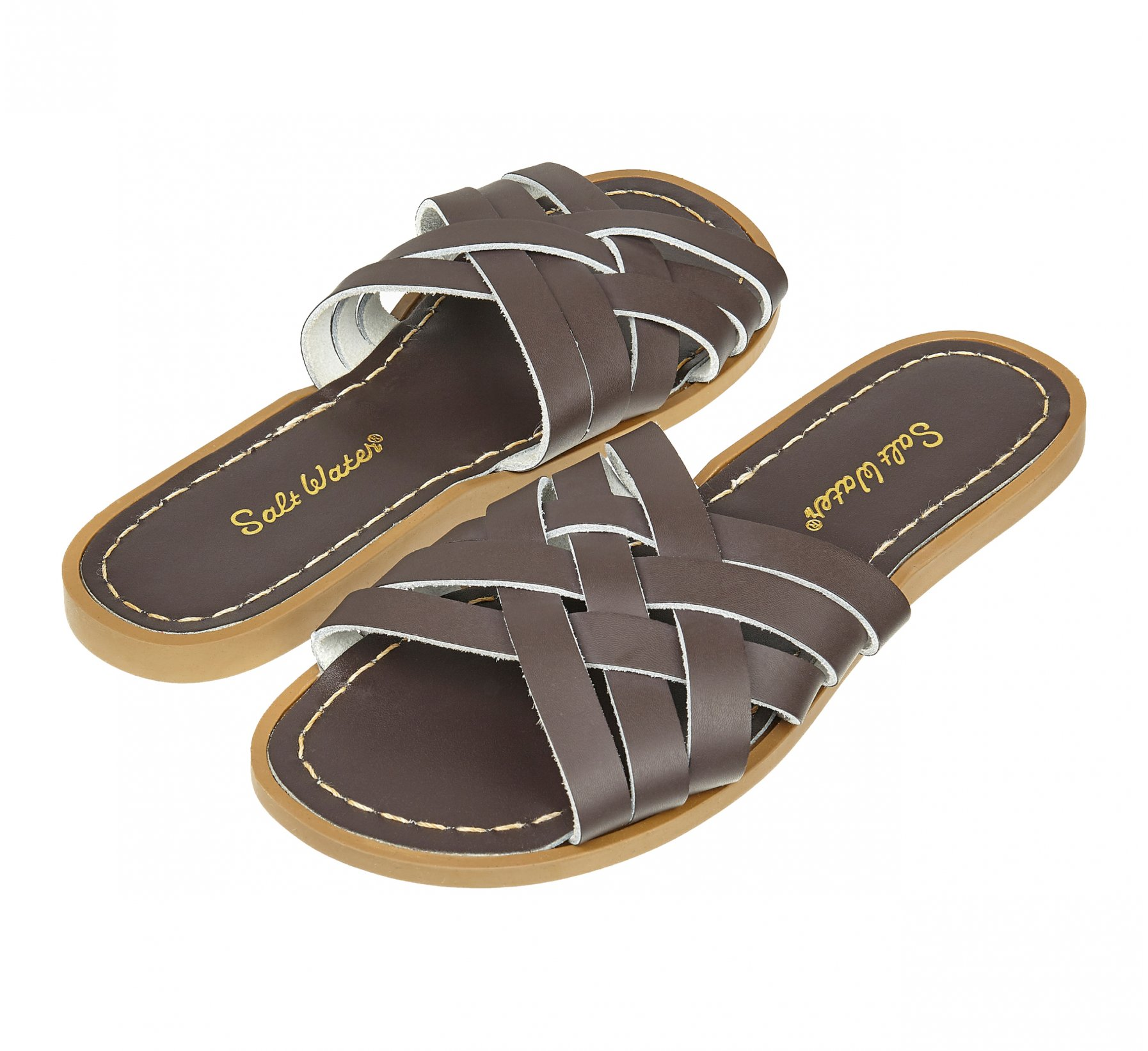 Retro Slide Brown - Salt Water Sandals