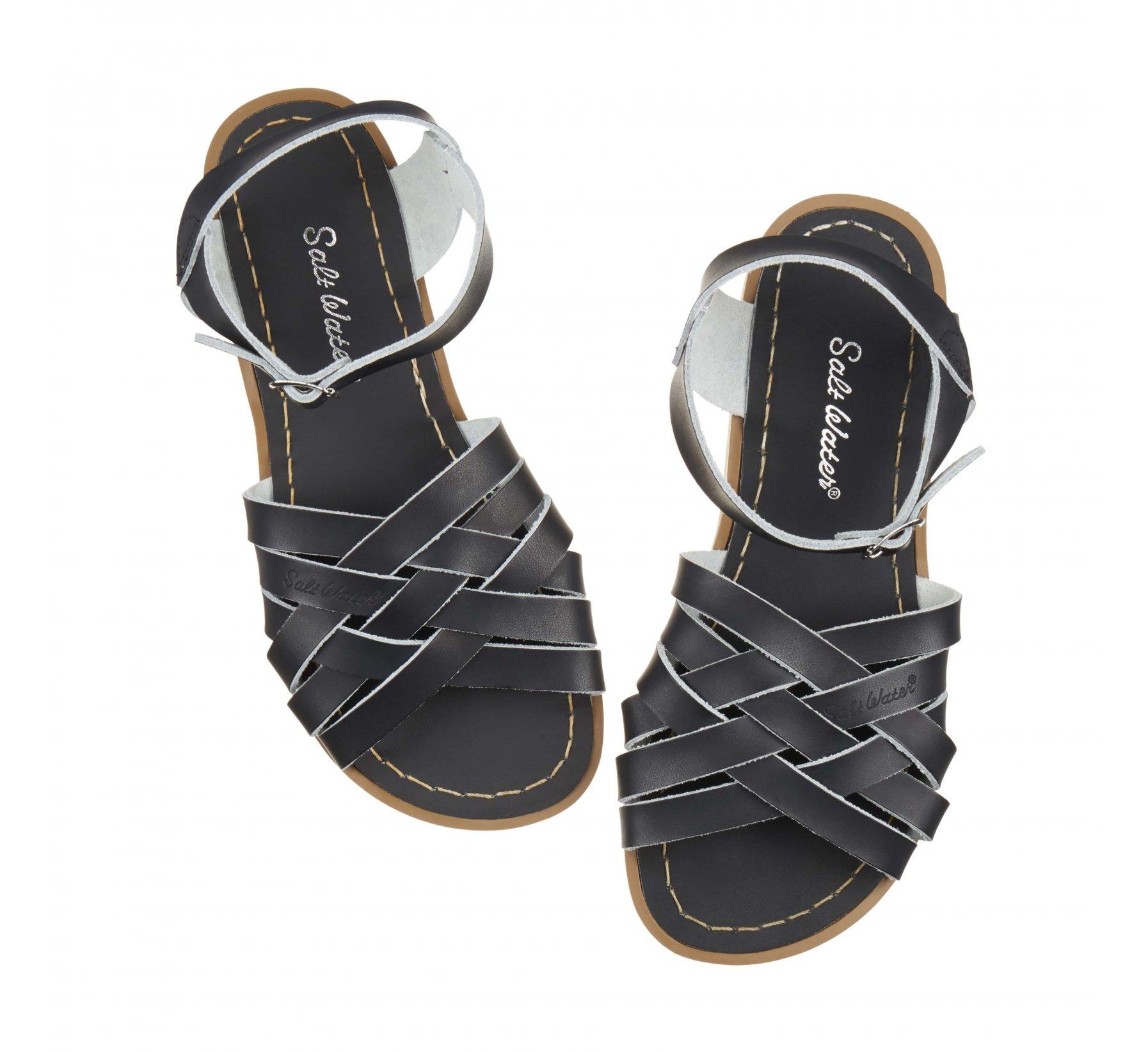 Retro Black  - Salt Water Sandals