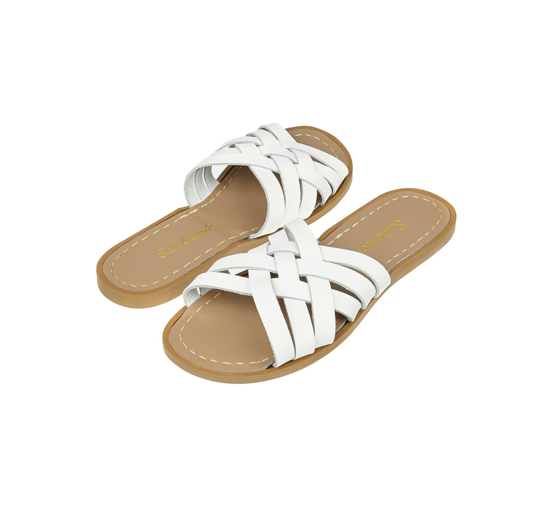Retro Slide in Weiß - Salt Water Sandals