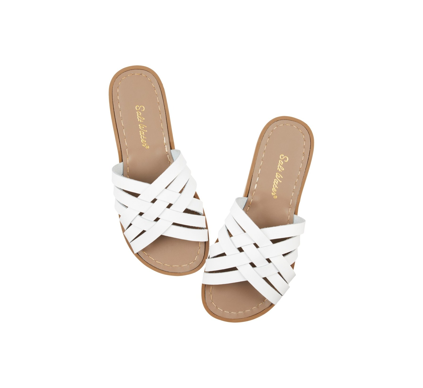 Retro Slide White - Salt Water Sandals
