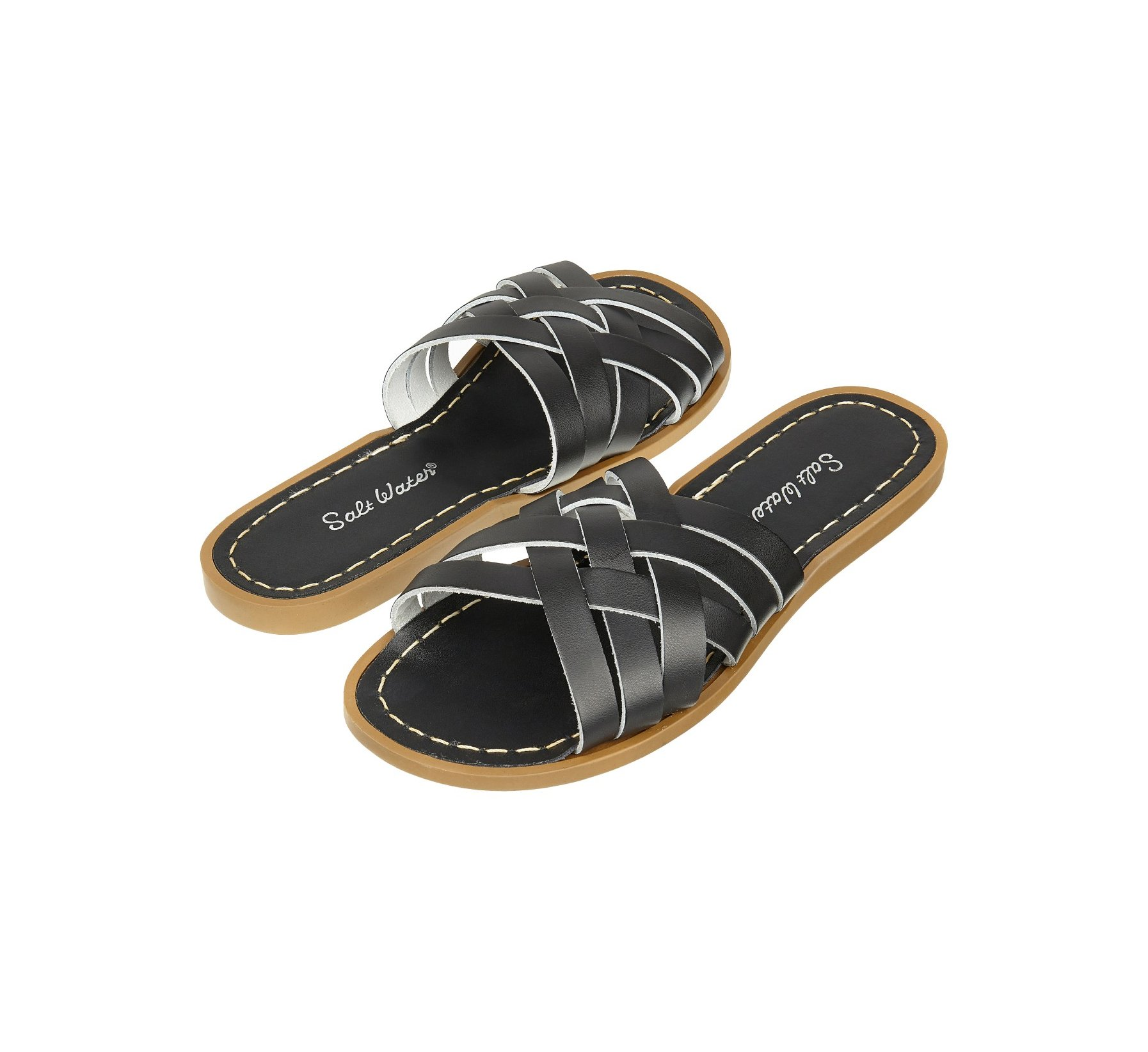 Retro Slide Black  - Salt Water Sandals
