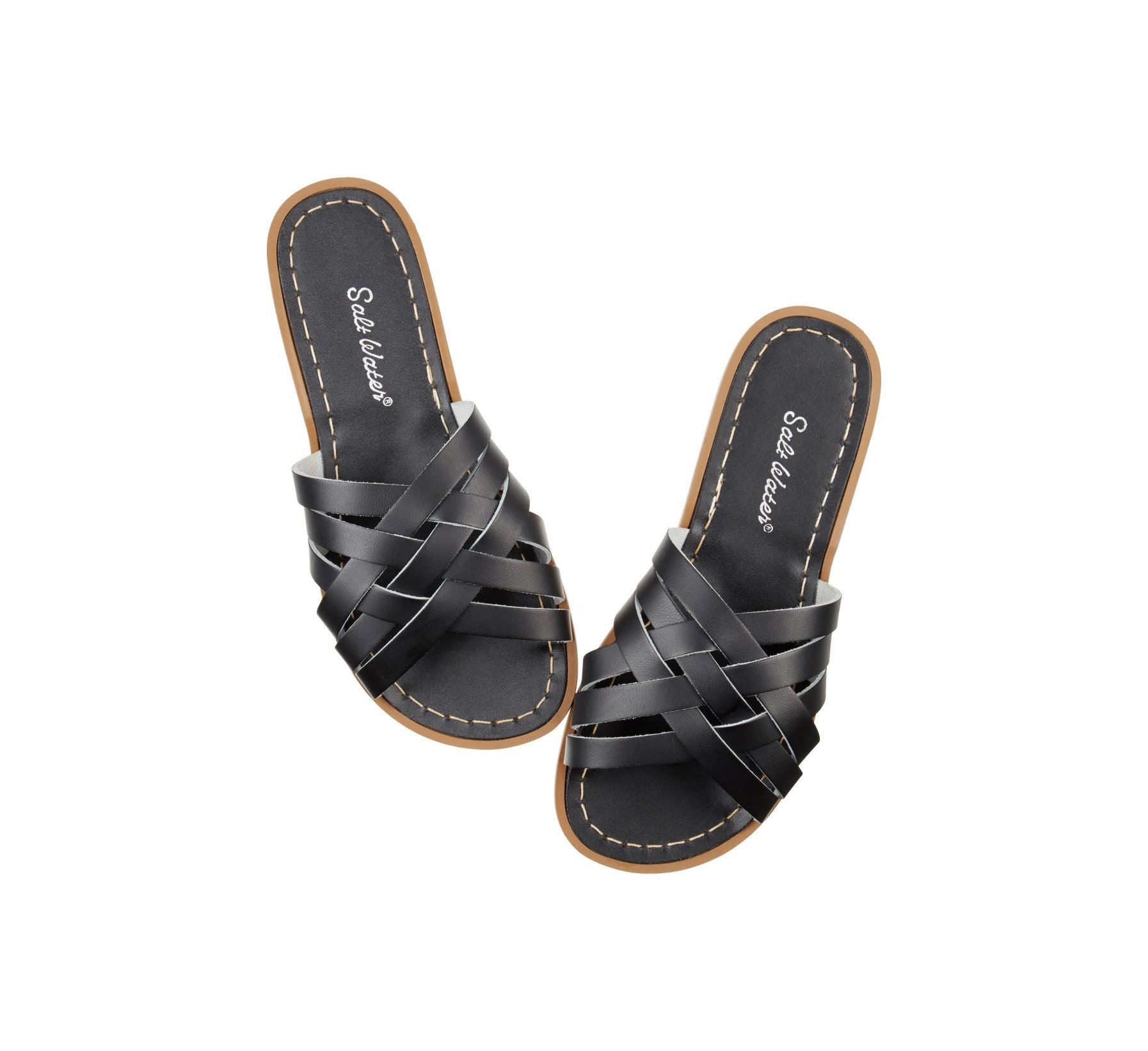 Retro Slide Hitam  - Salt Water Sandals