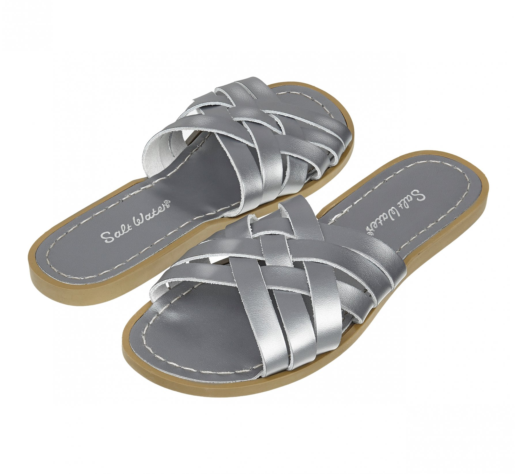 Retro Slide Pewter - Salt Water Sandals