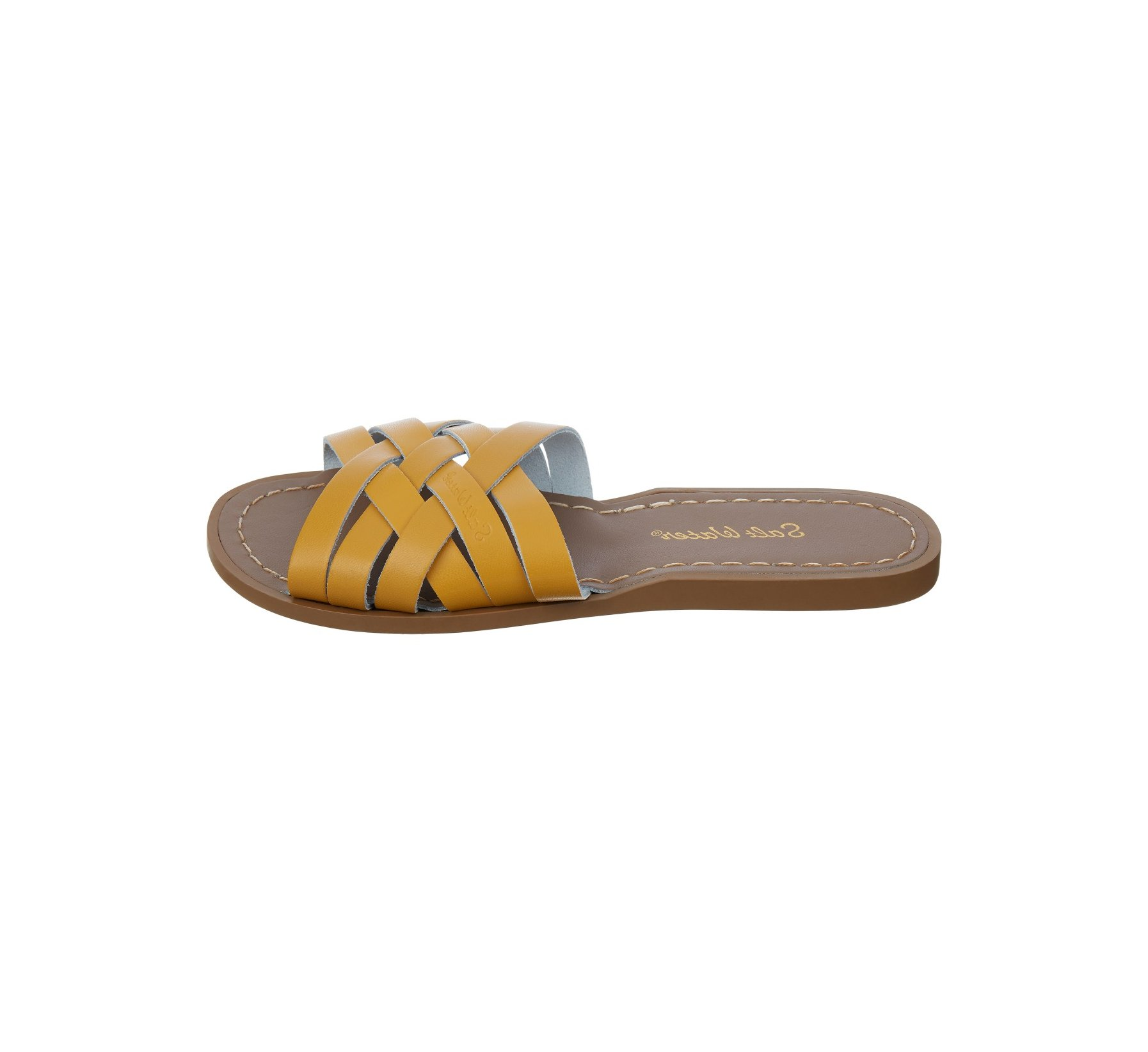 Retro Slide in Senfgelb - Salt Water Sandals