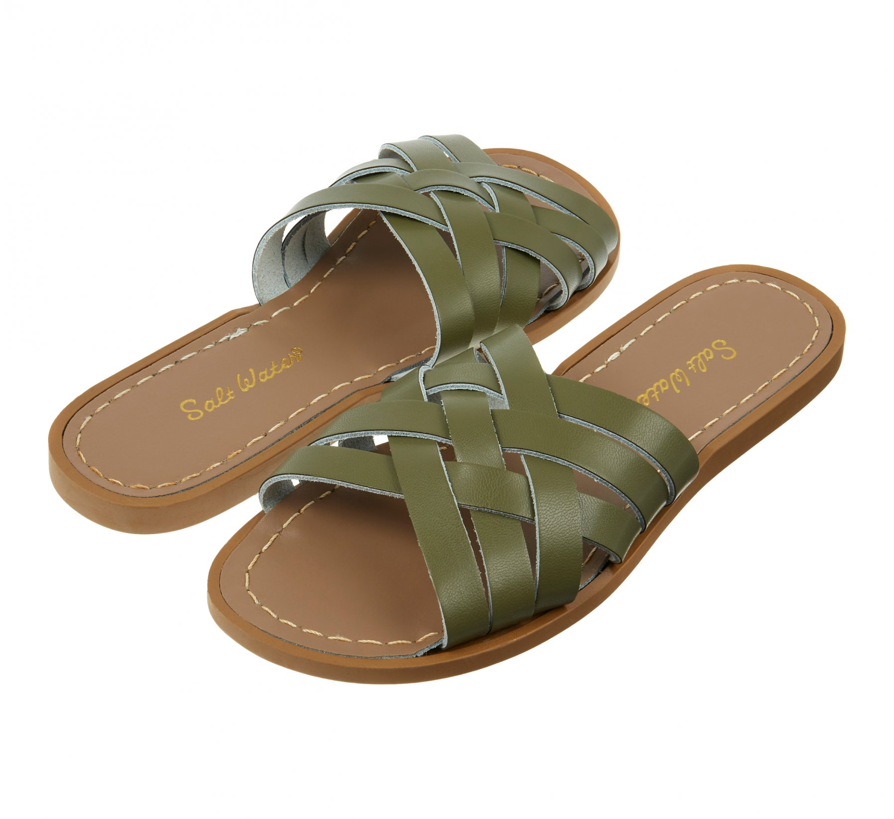 Retro Slide Olive  - Salt Water Sandals