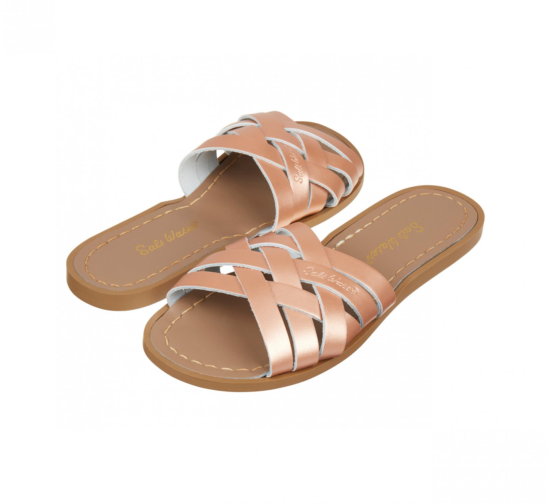 Retro Slide Rose Gold - Salt Water Sandals