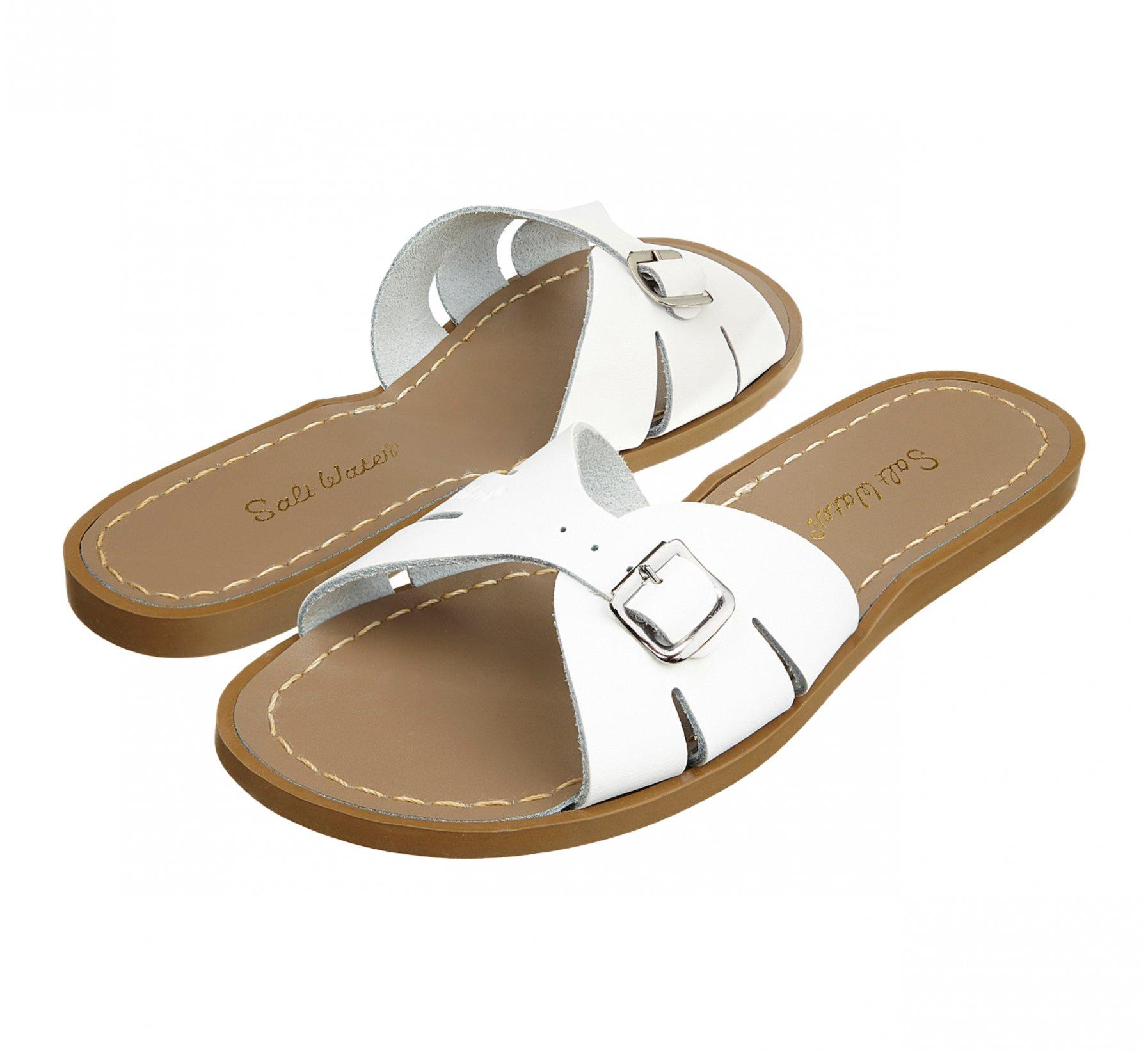 Classic Slide White  - Salt Water Sandals