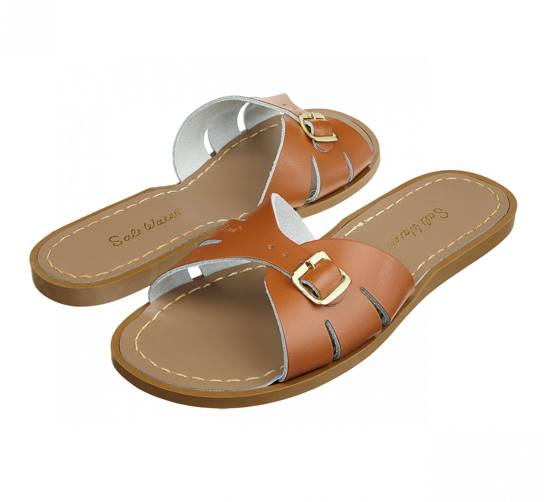 Classic Slide Tan  - Salt Water Sandals