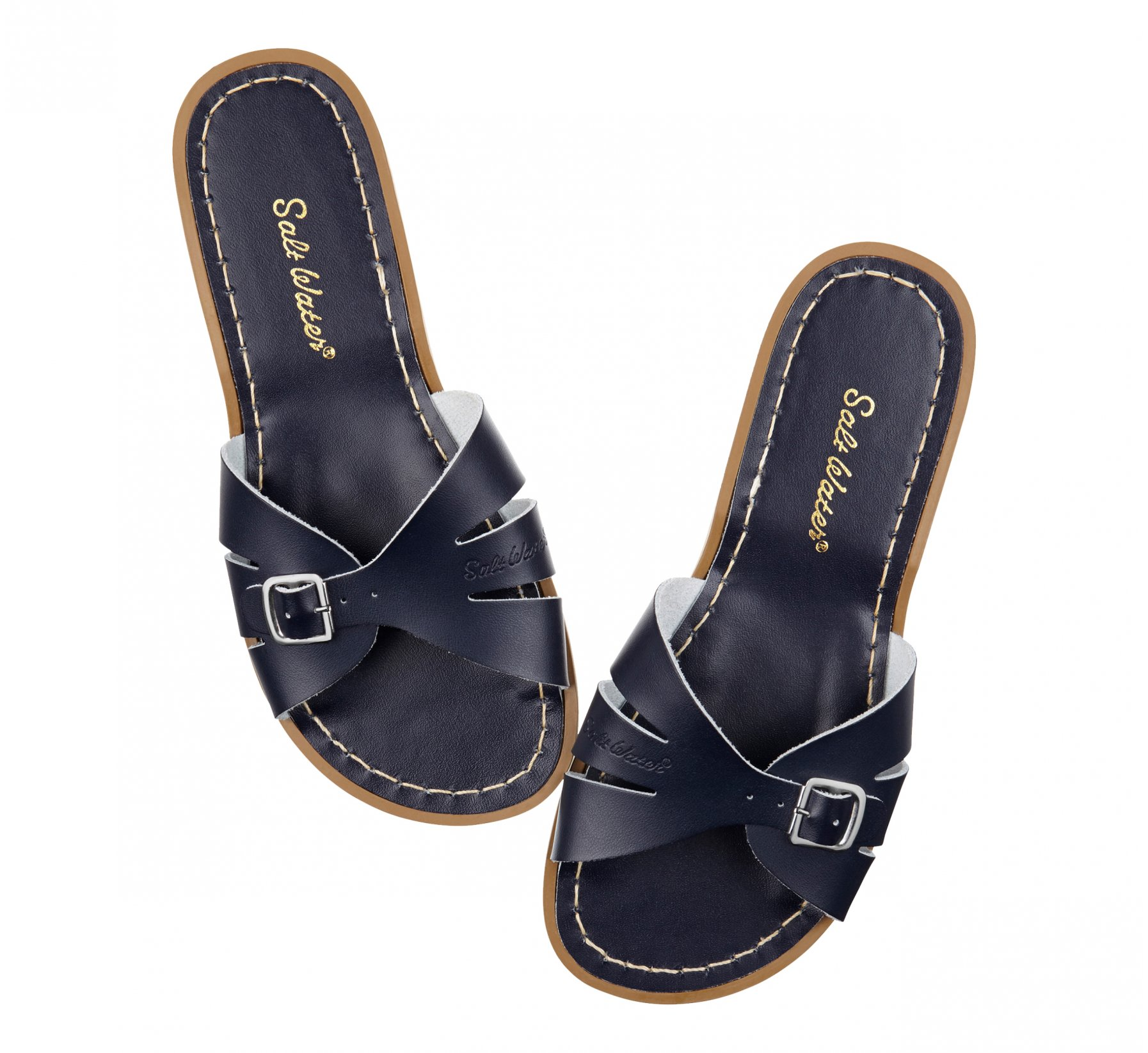 Classic Slide Navy  - Salt Water Sandals