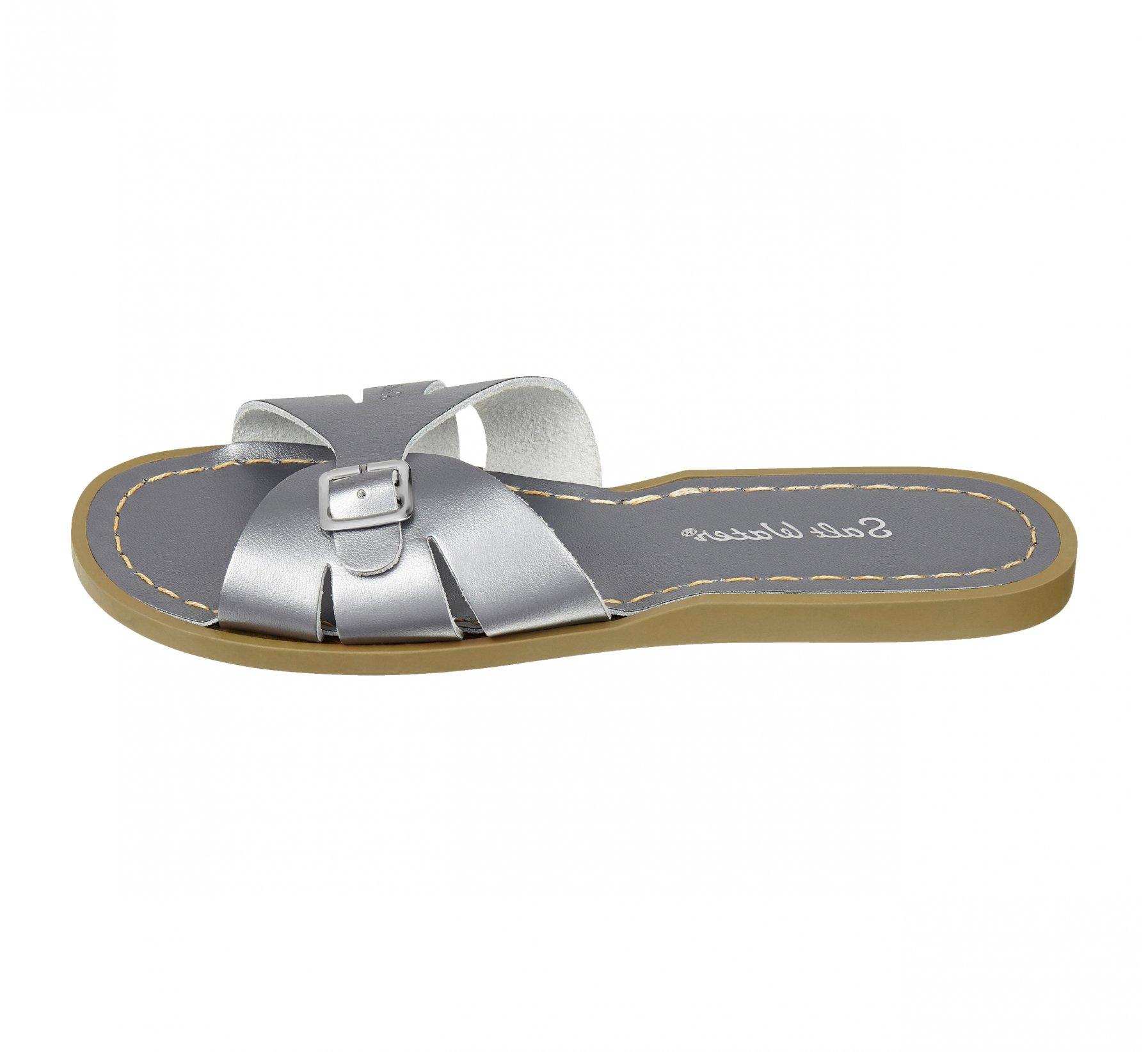 Classic Slide Pewter - Salt Water Sandals