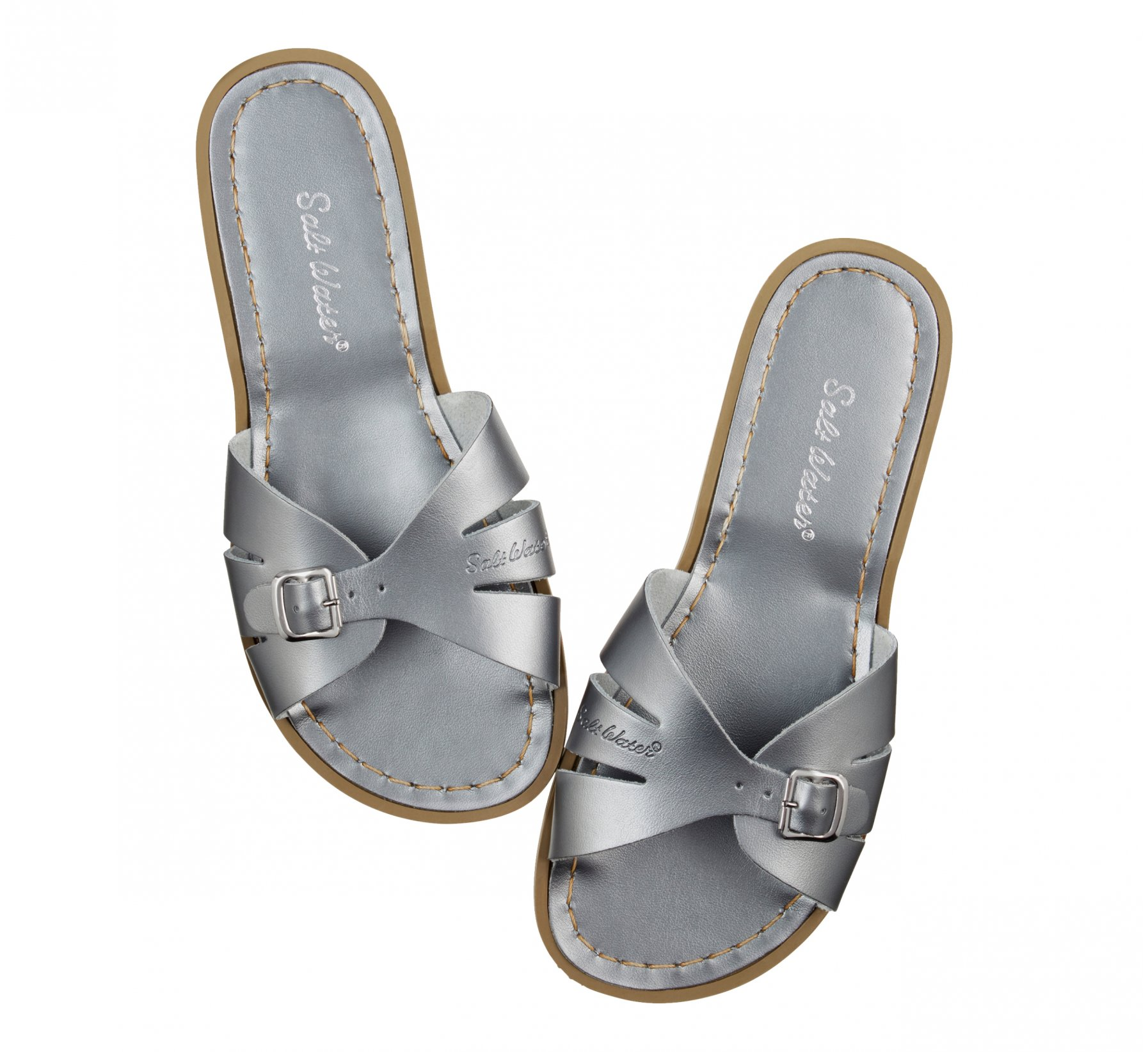 Classic Slide Pewter - Salt Water Sandals