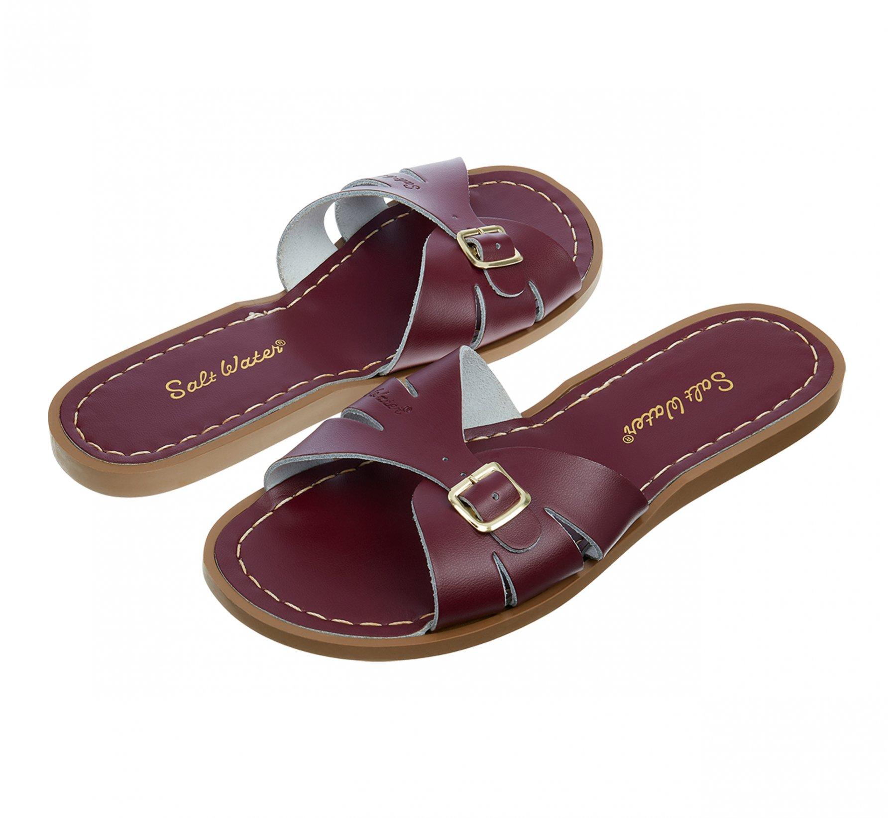 Classic Slide Claret - Salt Water Sandals