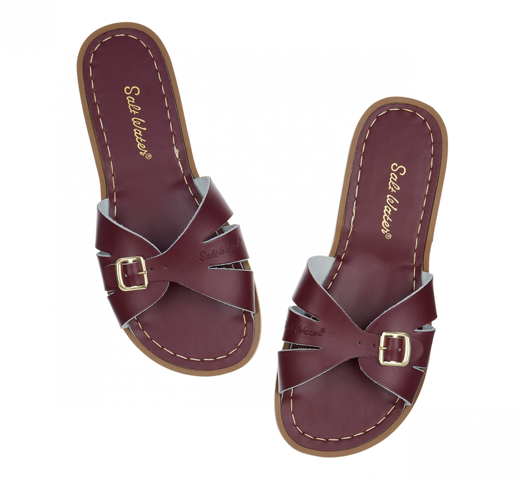 Classic Slide Claret - Salt Water Sandals