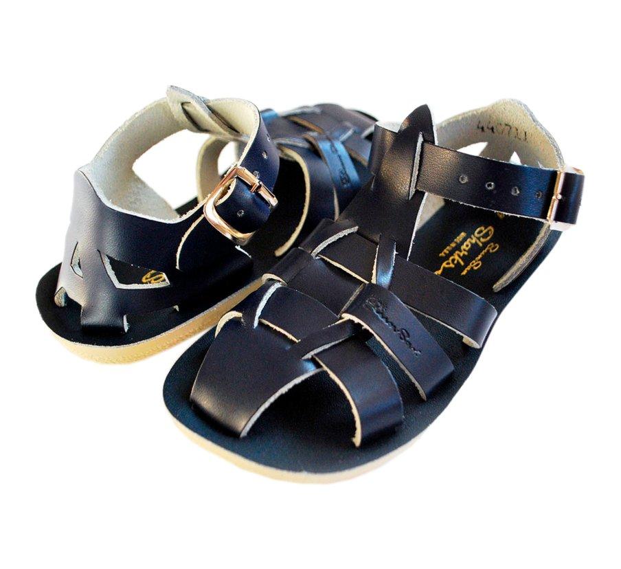 Salt-Water Shark Boys Girls Tan Sandal size uk kids children buckle leather